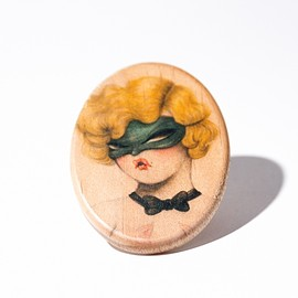 Miss Van - Wood Pin 'Mask' by Miss Van - Limited Edition