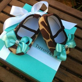 Tiffany & Co Inspired Giraffe Infant Shoes