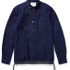 Sacai - Shell-Trimmed Quilted Cotton Shirt