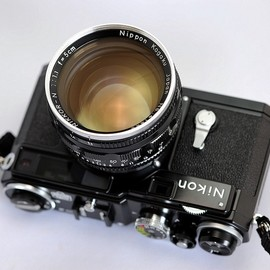 Nikon - SP with Nikkor 50mm f/1.1 lens.