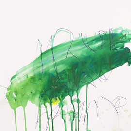 Jan Willem van Welzenis - Irumo, 2013, acrylic, wax crayon, color pencil on paper