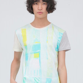 wed - 【Wed】EMO green Sleeve Switch T-Shirts