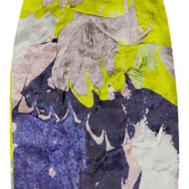 Michael van der Ham - Folded printed silk-organza skirt