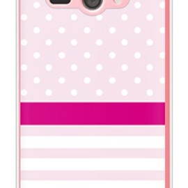 SECOND SKIN - ドット/ボーダー ピンク (クリア) / for AQUOS PHONE ss 205SH/SoftBank