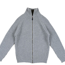 Corgi - Zip Knit Cardigan-Grey