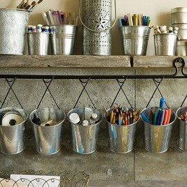 metal pail organization