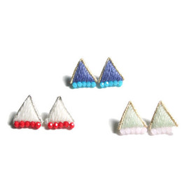 patterie - PUFF TRIANGLE PIERCE / EARRING