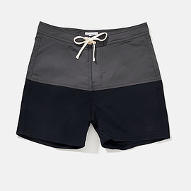 Saturdays Surf NYC - Ennis Board Shorts, Charcoal/Midnight
