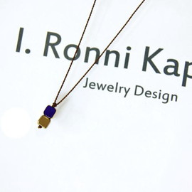 I.Ronni Kappos - 2SQUARE NAVY/GOLD necklace