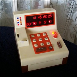 Ideal - Cash Register W 8 Coins & Tape