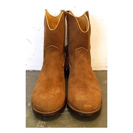 The Letters - Western Side Zip Suede Boots