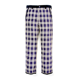 White Mountaineering - CHENILLE CHECK RELAX PANTS