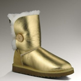UGG - UGG Bailey Button Short Boots Gold