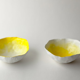 upintheairsomewhere - paper small yellow bowls
