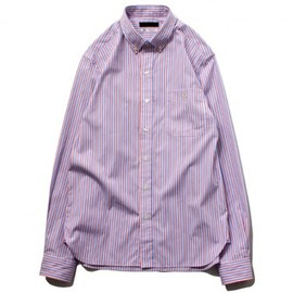 Stussy, Thomas Mason - Thomas Mason for Stussy - Amella Stripe Button Down Shirt (white/red/blue)