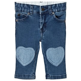 STELLA McCARTNEY - Blue Jeans with Heart Patches