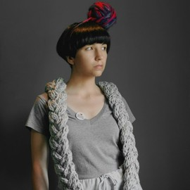 YoKoo - The Braided Scarf in Pony Grey