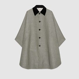 GUCCI - Houndstooth wool cape
