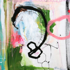 Trine Panum - HOOKED, mixed media on canvas
