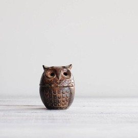 Vintage Ceramic Owl Incense Burner / 1970s Stoneware Owl Dish on Etsy, $20.00
