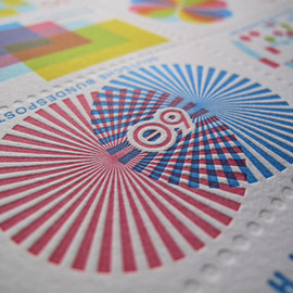 Deutsche Bundespost - stamp design Gavin Potenza graphic