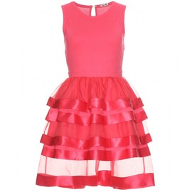 miu miu - COTTON AND SILK TIERED DRESS