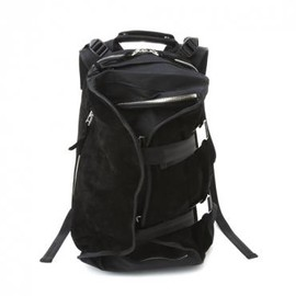 LORINZA - LORINZA Velours Double Strap Back Pack BLK