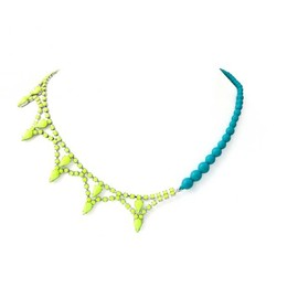 Tom Binns - NEON YELLOW CRYSTAL AND MINT PEARL NECKLACE