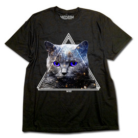 THE TEST - THE TEST ARCHIVE GRAPHIC T SHIRTS-TRICO CAT (BLACK)