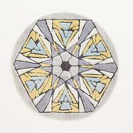 ANTHROPOLOGIE - アンソロポロジー(ANTHROPOLOGIE)バスマット Tufted Kaleidoscope Bathmat -GREY 1