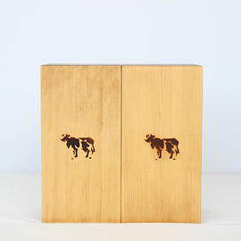 COW BOOKS|UNISEX - BOOKENDS - TALL #NATURAL [COW-001]
