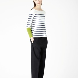 cos - Contrast cuff knit top