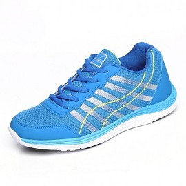 2016 blue lightweight mesh elevator sneakers increase 6.5cm / 2.56inch lace up walking shoes