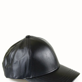 American Apparel - hat leather black