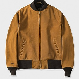 STUSSY, Schott - Suede Jacket - Brown
