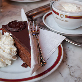 "Hotel Sacher ""Wiener Kaffee"", Sachertorte - Café Melange and Original Sacher Sachertorte"