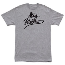"""""""Stay Mellow"""" – heather gray t-shirt – design by Unknown Document"""