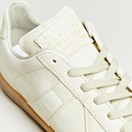 Maison Martin Margiela - Maison Martin Margiela Men's Leather Army Trainers