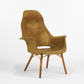 CHARLES EAMES AND EERO SAARINEN - high back armchair from the Museum of Modern Art Organic Design Competition