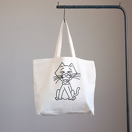 YAECA|ヤエカ - Print Bag - cat #natural