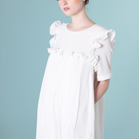 T-Shirt Sleeve Sailor Smock Dress Black
