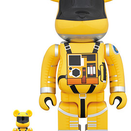 MEDICOM TOY - BE@RBRICK SPACE SUIT YELLOW Ver.100% & 400%