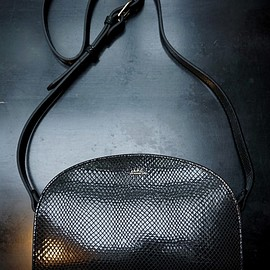 A.P.C. - HALF MOON BAG EMBOSSED