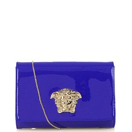 VERSACE - Medusa fold-over patent-leather clutch
