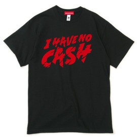 "MILLION RACE - S/S TEE ""I HAVE NO CASH""(Black)"