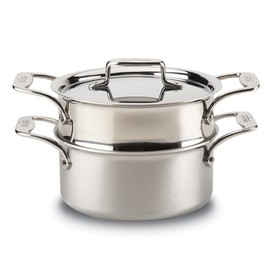 ALL-CLAD - D5 BRUSHED STAINLESS 3 QT CASSEROLE PAN WITH STEAMER
