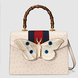 GUCCI - FW2017 Ostrich top handle bag with moth