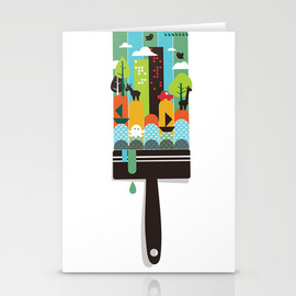 Budi satria Kwan - Paint your world Stationery Cards