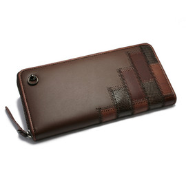 JAM HOME MADE, glamb - GAUDY ZIP LONG WALLET -BROWN-