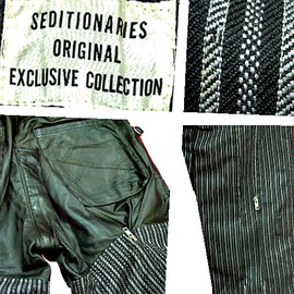 SEDITIONARIES - SEDITIONARIES EXCLUSIVE COLLECTION Bondage trousers (A STORE ROBOT) ボンテージパンツ ストライプ×レザー